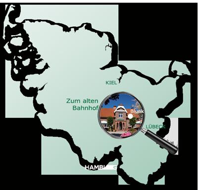 Zum alten Bahnhof in Blunk in Schleswig-Holstein